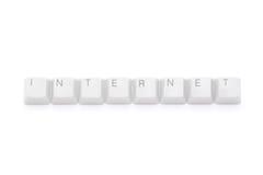 интернет пользуется ключом чисто Стоковое Изображение