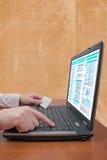 интернет принципиальной схемы банка Стоковые Фото