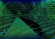 интернет принципиальной схемы бинарного Кода Стоковые Изображения