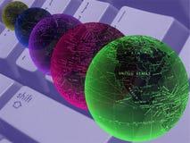 интернет принципиальной схемы дела Стоковые Фото