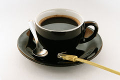 интернет принципиальной схемы кафа стоковое фото rf