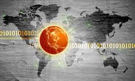 интернет принципиальной схемы предпосылки Стоковое Фото