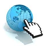 интернет принципиальной схемы Стоковое Изображение