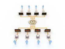 интернет принципиальной схемы Стоковое Фото