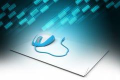 интернет принципиальной схемы цвета предпосылки голубой Стоковые Изображения RF