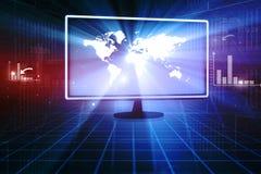 интернет принципиальной схемы цвета предпосылки голубой Стоковые Фото