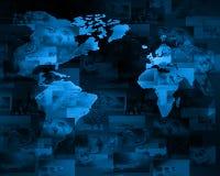 интернет принципиальной схемы цвета предпосылки голубой Стоковое Изображение RF