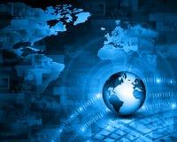 интернет принципиальной схемы цвета предпосылки голубой Стоковая Фотография