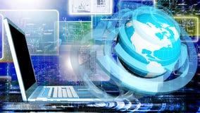 интернет принципиальной схемы цвета предпосылки голубой Стоковые Изображения