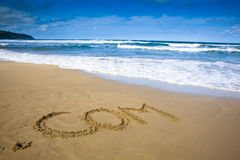 интернет притяжки компании пляжа Стоковые Фото