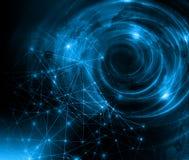 интернет самой лучшей принципиальной схемы дела гловальный предпосылка технологическая Излучает символы Wi-Fi, интернета, телевид Стоковые Изображения RF