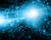 интернет самой лучшей принципиальной схемы дела гловальный предпосылка технологическая Излучает символы Wi-Fi, интернета, телевид Стоковое фото RF