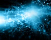 интернет самой лучшей принципиальной схемы дела гловальный предпосылка технологическая Излучает символы Wi-Fi, интернета, телевид Стоковые Изображения