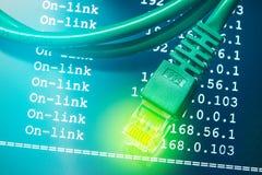 Интернет-связь с предпосылкой трассы IP стоковые изображения