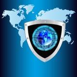 Интернет. Соединение. Cybersecurity Стоковые Фото