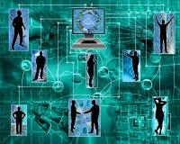 Интернет соединяет гуманность Стоковое Изображение