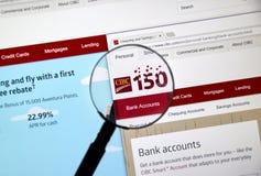 Интернет-страница канадского банка CIBC Стоковое Изображение RF