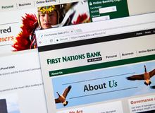Интернет-страница канадского банка FNBC Стоковое Изображение RF