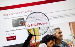 Интернет-страница канадского банка Rogers банка Стоковые Фотографии RF