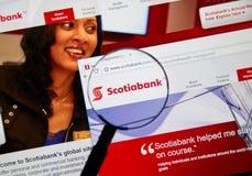 Интернет-страница канадского банка Scotiabank Стоковые Фото