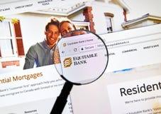 Интернет-страница канадского равноправного банка Стоковые Фотографии RF