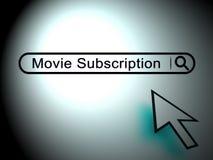 Интернет ТВ Ondemand подписки кино смотря 2d иллюстрацию Иллюстрация штока