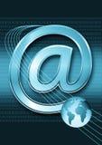 интернет электронной почты принципиальной схемы Стоковые Фотографии RF