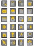 интернет icons02 Стоковые Изображения