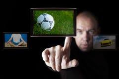 интернет tv широковещания Стоковое фото RF