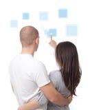 интерфейс икон пар нажимая касание экрана Стоковое Изображение RF