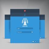 Интерфейс тенденции дизайна вектора плоский UI Стоковое Изображение RF