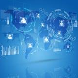 Интерфейс цифровой технологии Стоковая Фотография