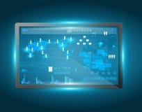 Интерфейс экрана касания вектора Стоковые Изображения