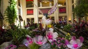 Интерьеры венецианской гостиницы, Лас-Вегас, Невады Стоковое фото RF