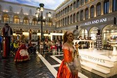 Интерьеры венецианской гостиницы, Лас-Вегас, Невады Стоковые Изображения