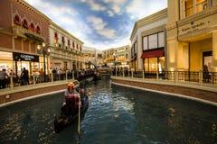 Интерьеры венецианской гостиницы, Лас-Вегас, Невады Стоковая Фотография RF