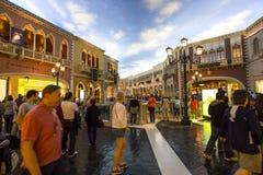 Интерьеры венецианской гостиницы, Лас-Вегас, Невады Стоковое Фото