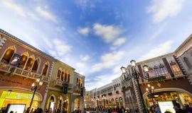 Интерьеры венецианской гостиницы, Лас-Вегас, Невады Стоковое Изображение