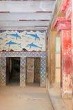 Интерьеры Knossos, Крета, Греция Стоковое Изображение