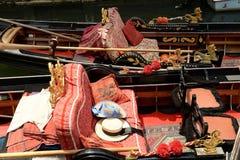 Интерьеры гондолы в Венеции, Италии Стоковая Фотография