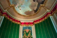 Интерьеры и детали замка Фонтенбло, Франции стоковая фотография rf