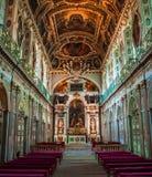 Интерьеры и детали замка Фонтенбло, Франции стоковое фото