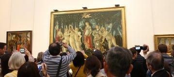 Интерьеры и детали Uffizi, Флоренс, Италия Стоковые Фотографии RF