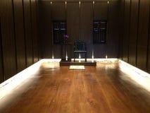 Интерьеры конференц-зала исторические китайские комната или офис стоковая фотография