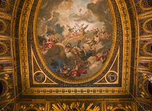 Интерьеры королевской оперы, Версаль, Франция Стоковые Изображения RF