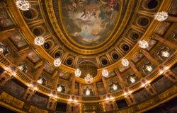 Интерьеры королевской оперы, Версаль, Франция Стоковые Фотографии RF