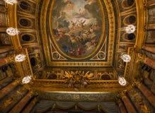 Интерьеры королевской оперы, Версаль, Франция Стоковые Изображения