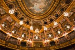 Интерьеры королевской оперы, Версаль, Франция Стоковое Изображение