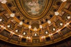 Интерьеры королевской оперы, Версаль, Франция Стоковая Фотография