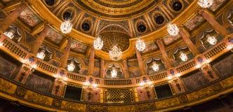 Интерьеры королевской оперы, Версаль, Франция Стоковое Фото
